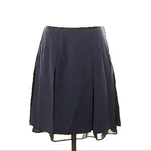The Limited Navy & Black Pleated Skirt Size 4 NWT